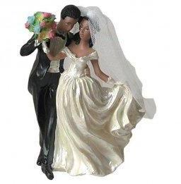 Figurine Mariage Mariés Métisse