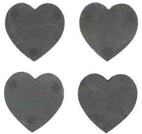 Dessous de Verre Coeurs en