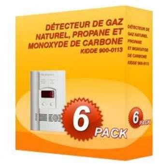 Pack de 6 détecteurs de gaz