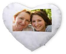 Coussin coeur photo