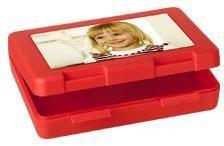 Boîte à goûter photo (rouge)