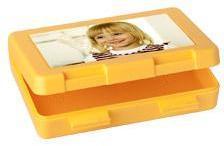 Boîte à goûter photo (jaune)