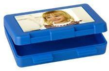 Boîte à goûter photo (bleu)