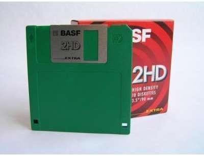 BASF Disquettes vert 3 5 2HD