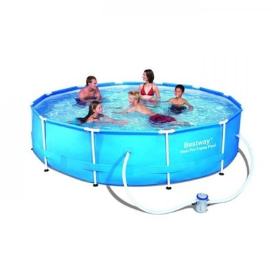 Bestway piscine tubulaire ovale steel pro frame x 3 for Piscine bestway steel pro