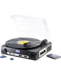 Tourne-disque lecteur cassette