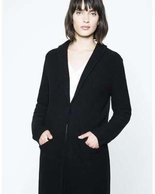 Cardigan manteau en laine