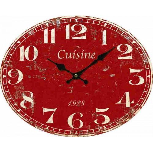 Recherche horloge led du guide et comparateur d 39 achat - Horloge cuisine rouge ...