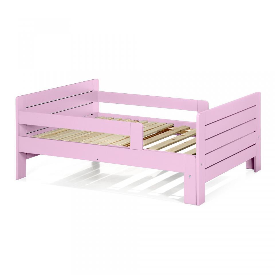 someo lit enfant evolutif bois massif taupe tiroir 90x14. Black Bedroom Furniture Sets. Home Design Ideas