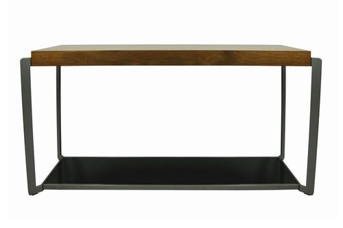 couleurs console 2 niveaux en bois et mtal noir 100x35 cm kansas 100x35x80. Black Bedroom Furniture Sets. Home Design Ideas