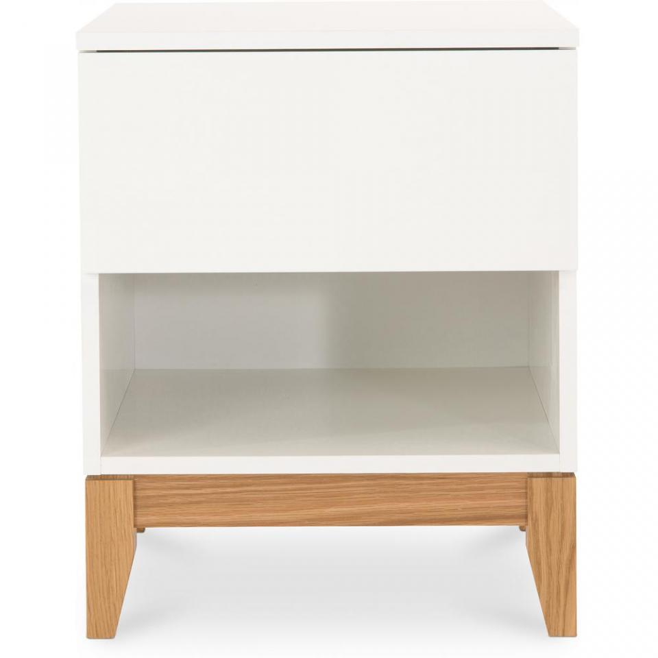Table De Nuit Scandinave White Nightstand Bedside Table