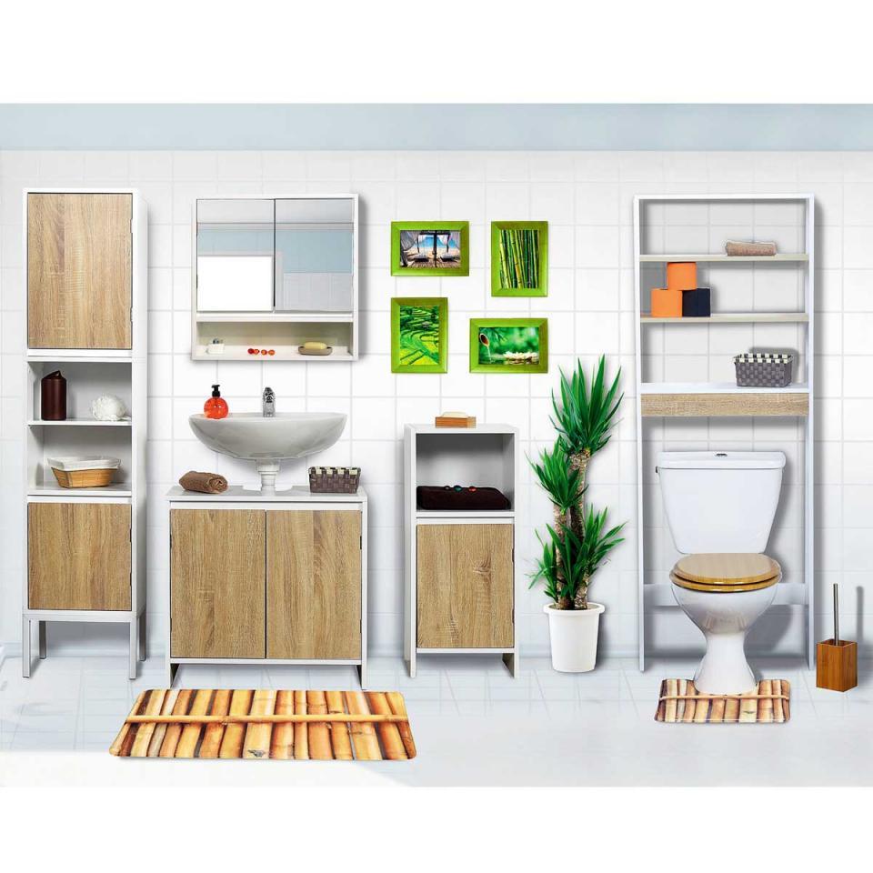 Swithome meuble de rangement miroir 5 tiroirs ness noir for Meuble mural avec miroir