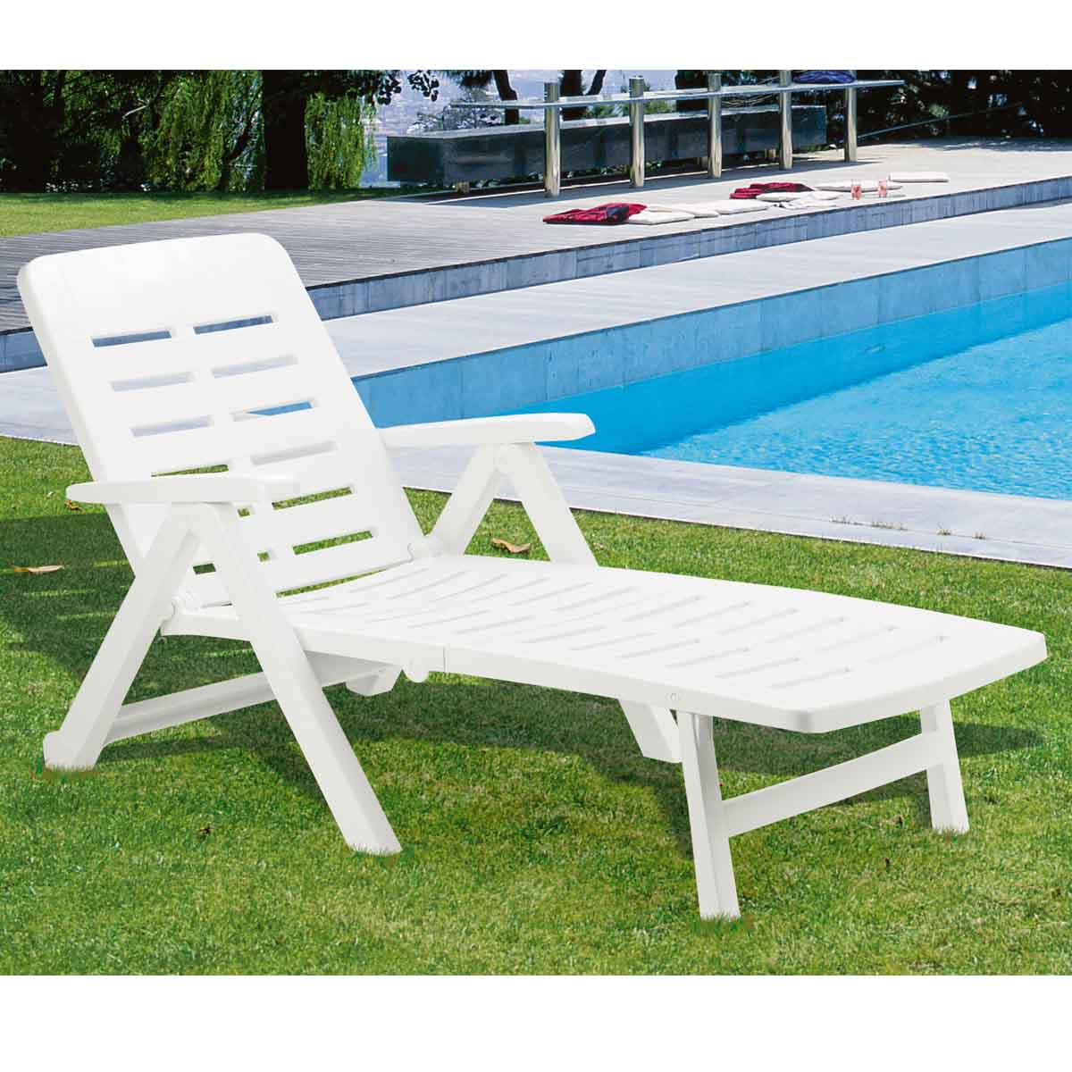 Chaise de jardin pvc photos de conception de maison for Chaise longue jardin pvc