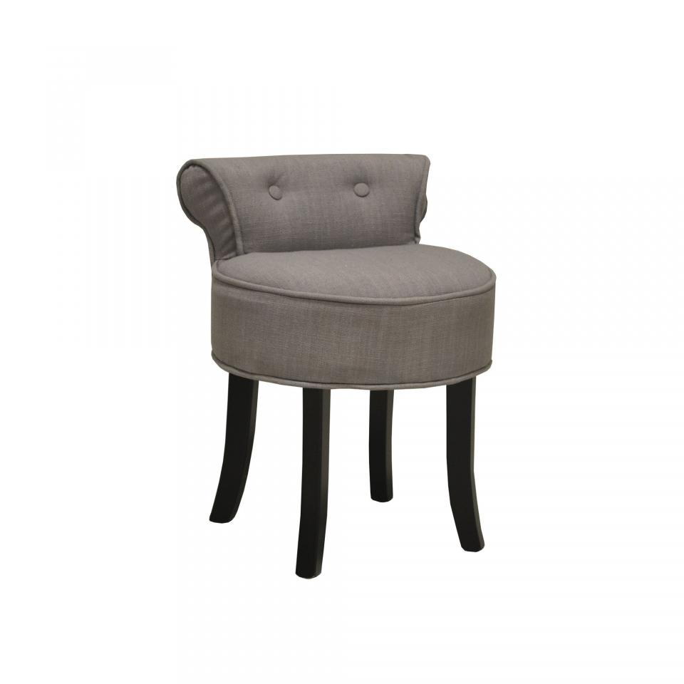 miroir capitonn strass velours gris 80x60 cm. Black Bedroom Furniture Sets. Home Design Ideas