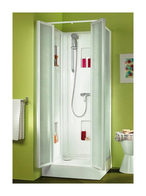 Leda cabine de douche rectangle izibox porte coulissan for Cabine de douche sans porte