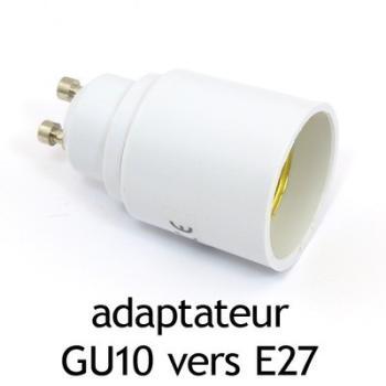 Adaptateur culot GU10 vers