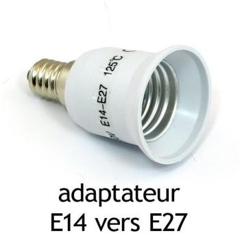 Adaptateur culot E14 vers