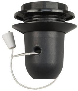 Douille à tirette E27 noire