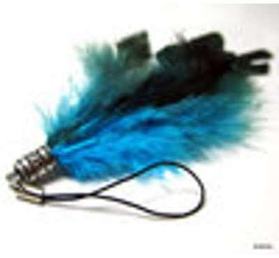 Bijou de portable pompon plumes