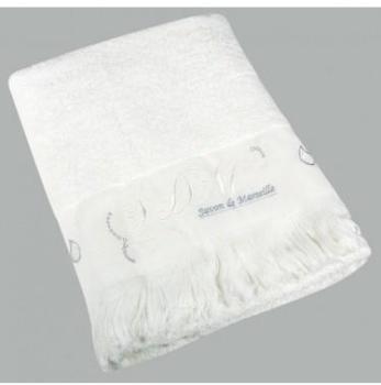 Drap de bain Romantique Blanc