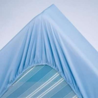 Drap-housse uni polyester-coton