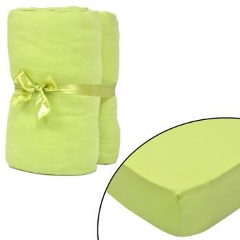 VidaXL 2 draps-housses vert