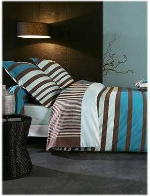 Drap plat Stripe bleu Tradilinge