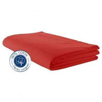 Drap plat 100 coton Corail