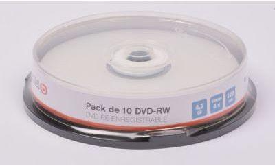 DVD vierge Essentielb 10 DVD-RW