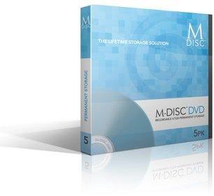 Pack 5 M-DISC DVD Vierge Garantie