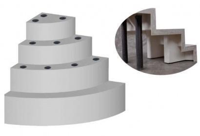 Escalier 1 4 cercle sous liner