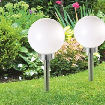 Lampe boule 30 cm led solaire