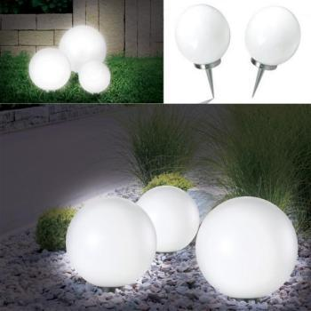Lampe boule 15 cm led solaire