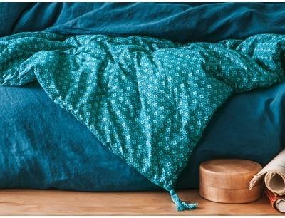 dredon Coton Bleu Arabesque