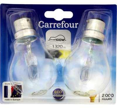 Ampoule halogène claire baïonnette