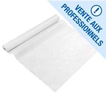 Nappe papier blanche damassée