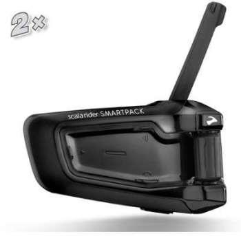 Cardo PackTalk smartpack col de Sygne Micro Pour Moto Casques Noir