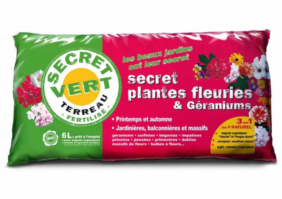 Terreau pour plantes fleuries