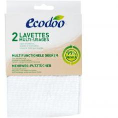 ECODOO Lot de 2 Lavettes Multi-Usages