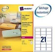 AVERY J8160-25 étiquettes