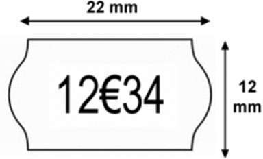 Etiquettes 22 x 12 Permanent