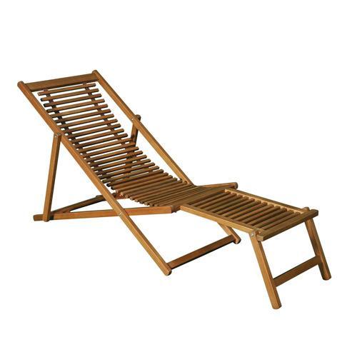 Greenpath salon de jardin enfant 2 places en acacia 1 for Chaise longue avec repose pied chilienne