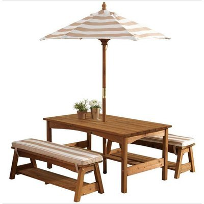 Kidkraft cuisine grand gourmet vert 53274 cuisine en Table de jardin avec banc attenant