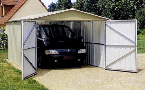 Yardmaster cabri de jardin m for Abri garage metal