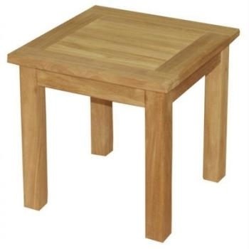 Easy cborne lumineuse carr e teck 70 cm r f 64350 co - Table d appoint carree ...