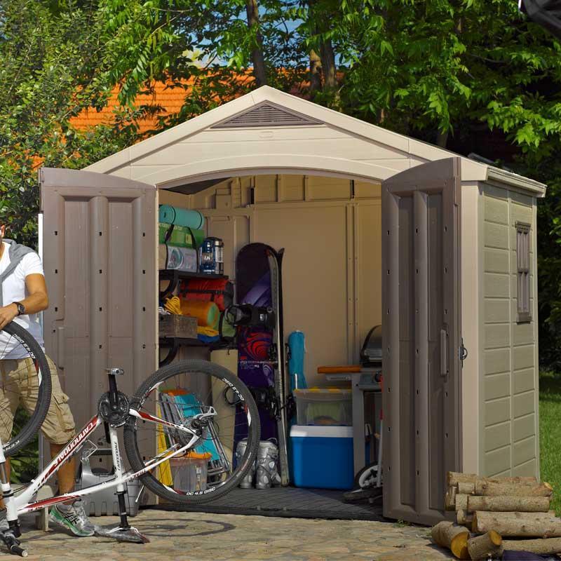 Keter coffre de jardin borneo 17197731 for Abri de jardin en bois sans entretien