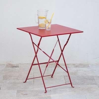 Squareline table de jardin en acier carr 70x70cm bruge - Table jardin acier ...