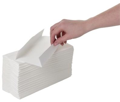Essuie-mains pli en C blanc