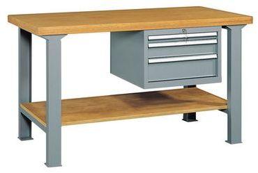 Etabli avec 3 tiroirs et plateau