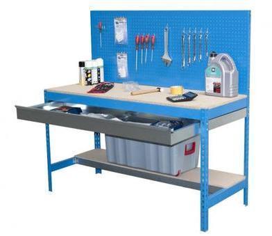 Etabli garage bleu